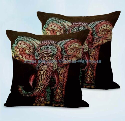 US SELLER 2pcs sofa decorative pillows lucky elephant animal cushion cover