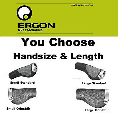 Ergon GP5 pick Bike Standard Grip Length or GripShift /& Large or Small Hand Size
