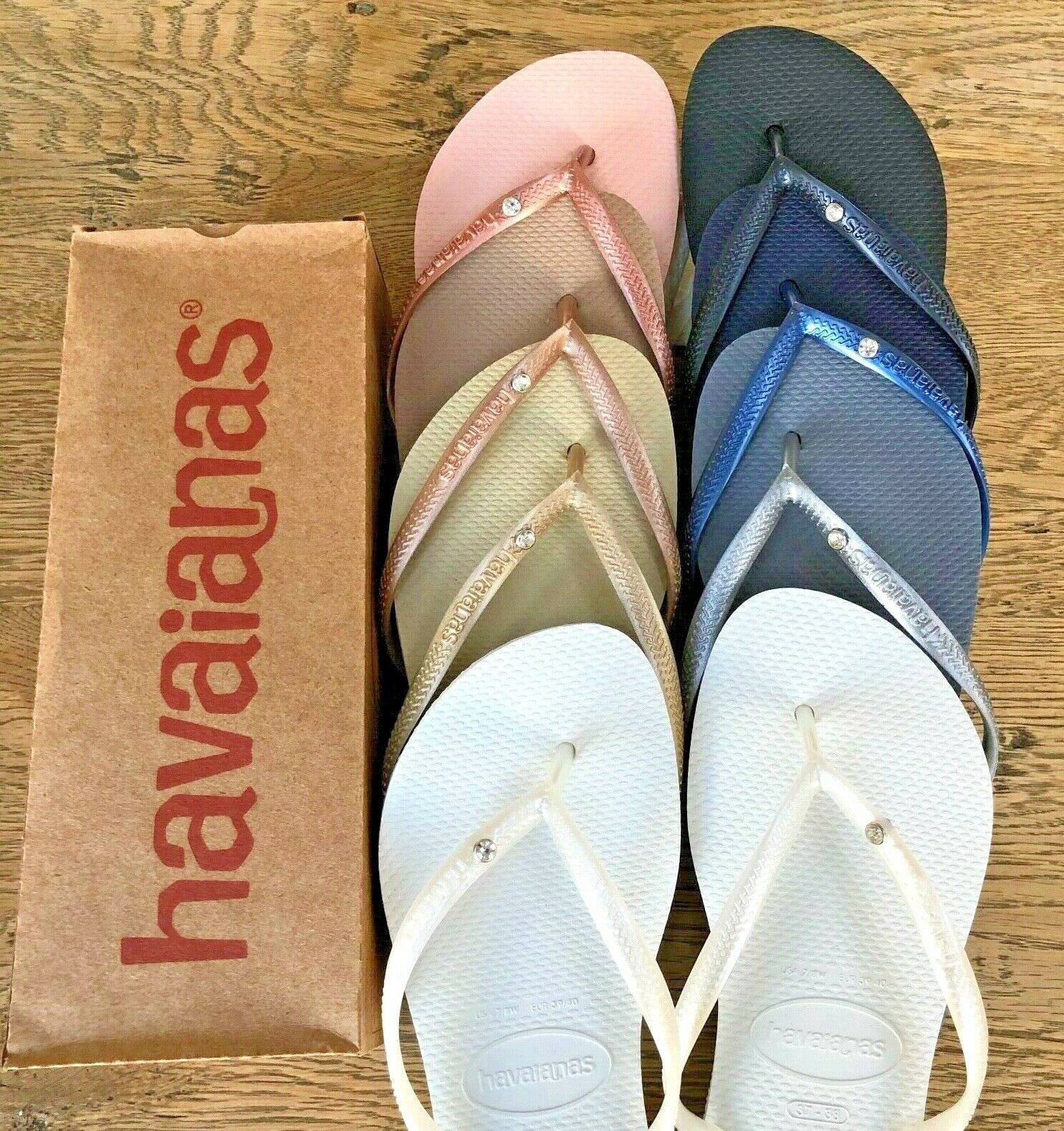 navy havaianas with crystal