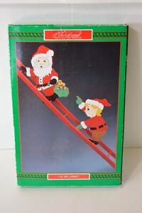 House of Lloyd Vintage Santa Claus Up The Ladder Elf Christmas Home Decor NIP