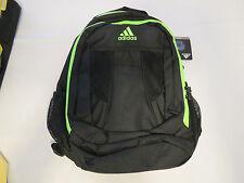 Adidas Atkins backpack black solar green back pack book bag127953C B161 NEW