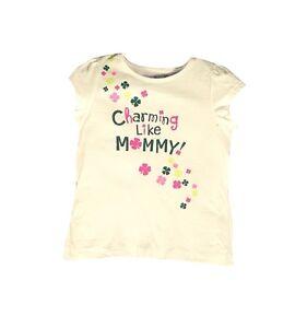 Jumping Bean Girls White Luck To Be Irish Female Cartoon T-Shirt NEW 18 2T 3T 4T