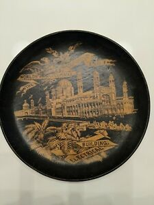 World-039-s-Columbian-Exposition-Chicago-1893-ELECTRICAL-BUILDING-WOOD-BOWL-RARE