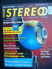 STEREO 9/07. CYRUS CD 6S,PRE VS 2,6 POWER,( POWER,MITSUBISHI LT 5V,CABASSE IO 2
