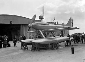 OLD-LARGE-PHOTO-AVIATION-HISTORY-Gloster-Napier-Supermarine-S6-seaplane-c1930-2