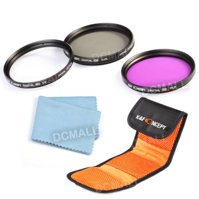 NEW 67mm Lens Camera Filter Kit UV CPL FLD for canon nikon sony + Cleaning Cloth