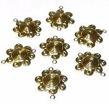 M411f Gold Sun Flower Swirl Link 17mm Plated Brass Component 10/pkg