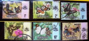 1971-USED-STAMPS-NATIONAL-BUTTERFLIES-MALACCA-c
