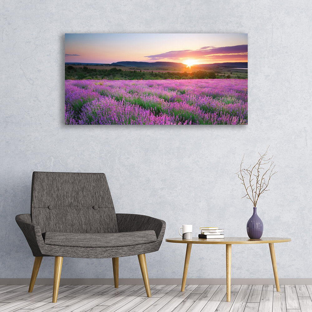 Canvas print print print Wall art on 120x60 Image Picture Sun Meadow Flowers Nature 7426f9