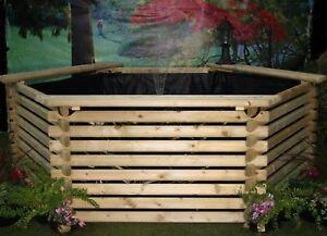 New garden pond 400 gallon liner koi pool tank fish for Koi pond gallons