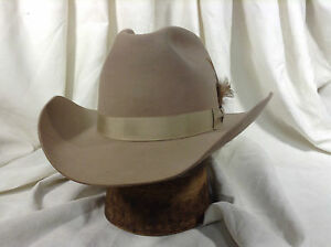 9f4a3687d8411 Image is loading Vintage-Resistol-Cowboy-Hat-5X-Felt-Color-Silverbelly-