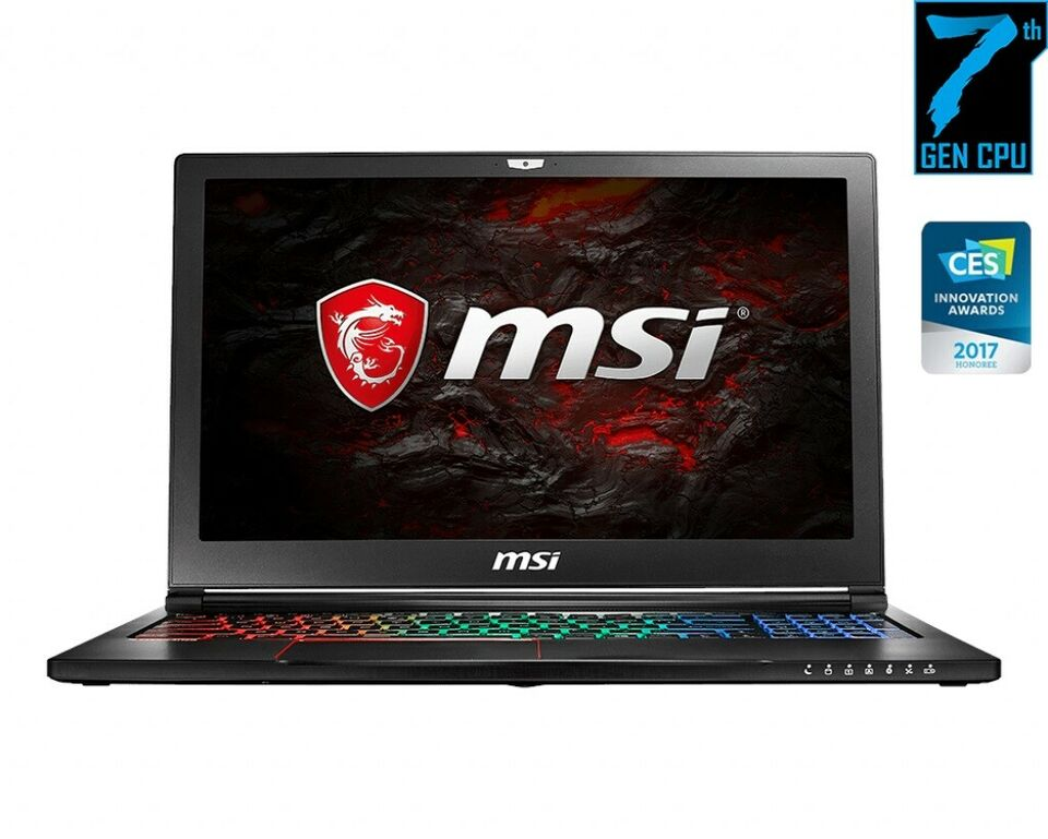 MSI GS63vr 7rf (stealth pro 4k), i7-7700HQ 2,8 GHz (3,8)