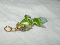 vintage cloisonne enamel fish pendant