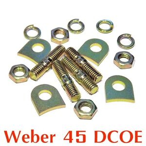 Installation-kit-pads-tabs-lock-for-Weber-45-DCOE-for-2x-velocity-stack-air-horn