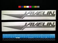 2 (two) Javelin Boats Marine Hq Decals 12 - Silver Metallic + More