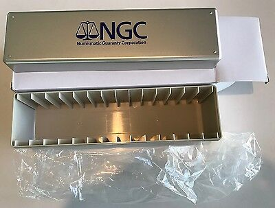 DOUBLE THICK BOX NGC Storage Plastic Box Holds 14 Slabs Brand New!