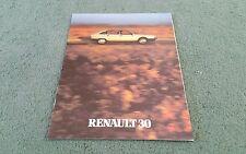 1981 RENAULT 30 TX MANUAL AUTOMATIC UK BROCHURE