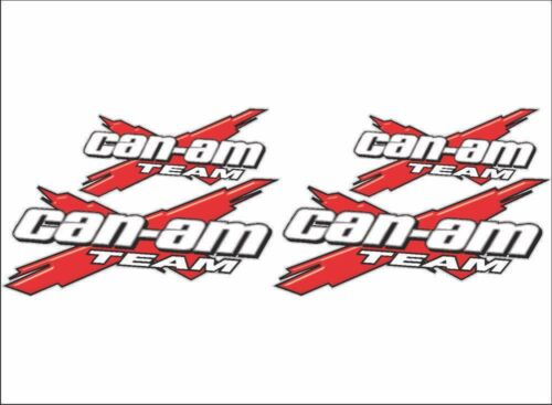 RED 4 Pack Vinyl Graphic Recreational Decal Stickers CAN-AM Team-X Logo