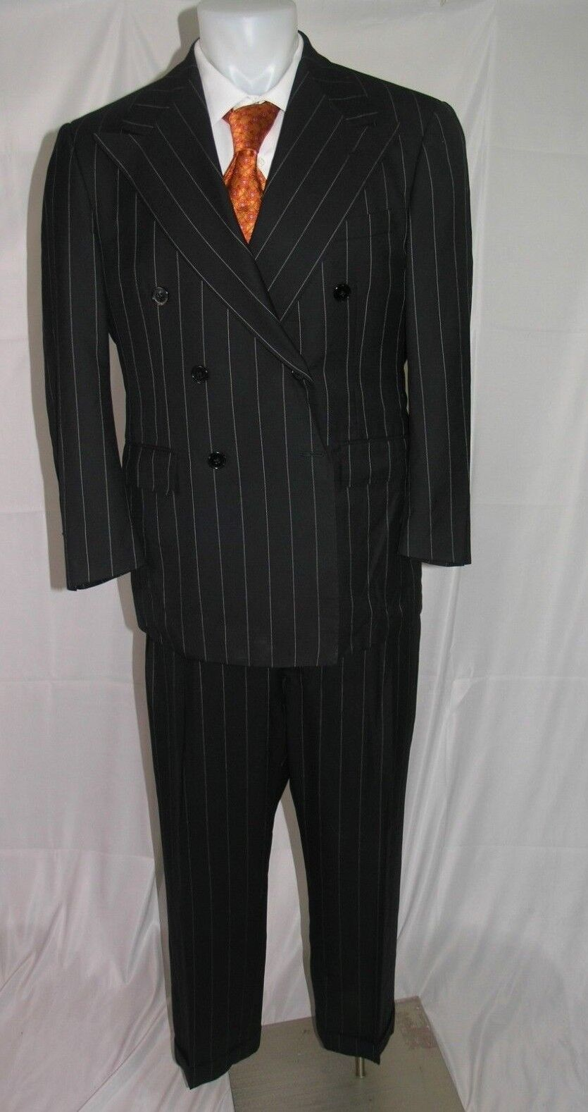 Ralph Lauren lila Label Cashmere Blend Double Breasted Suit 41 R 35 x 28
