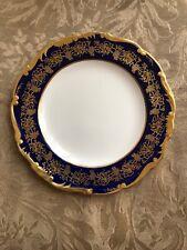 Coalport Hazelton Porcelain Cobalt Blue & Gold Salad Plate