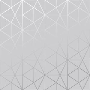 Carta Da Parati Geometrica.Wold Di Carta Da Parati Metro Prisma Geometrico Triangolo Grigio