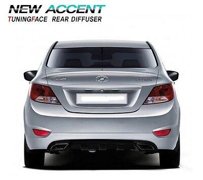 FIT HYUNDAI 2011 2012 2013 2014 Accent  Verna  Solaris Rear Bumper Diffuser 1Pcs