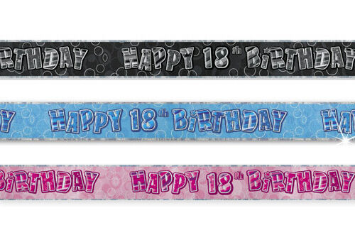 9Ft film mur joyeux anniversaire glitz bannière 13th-100th décorations de fête tout ici