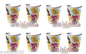 8ct Disney Princess 9oz Paper Cups Kids Girls Birthday Party