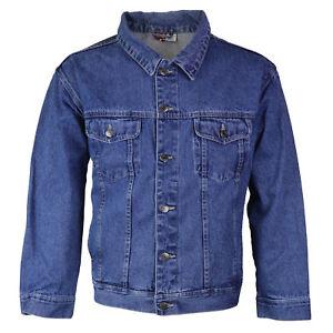 Star-Jean-Men-039-s-Classic-Premium-Button-Up-Cotton-Denim-Jean-Jacket-Blue