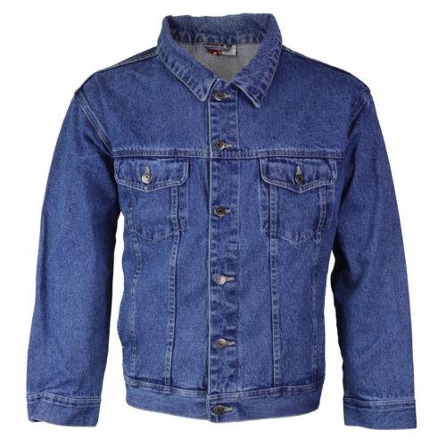 Star Jean Men/'s Classic Premium Button Up Cotton Denim Jean Jacket Blue