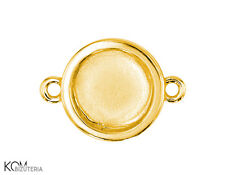 Pendant (bail) 7 mm flat w 106.2 - gold-plated silver