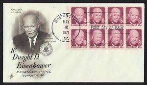 #1395a 8c Eisenhower, Arte Craft-Add FDC Cualquier 4=