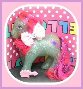 My-Little-Pony-MLP-G1-Vtg-Sky-Rocket-SPARKLE-Red-Glitter-Tinsel-Fireworks