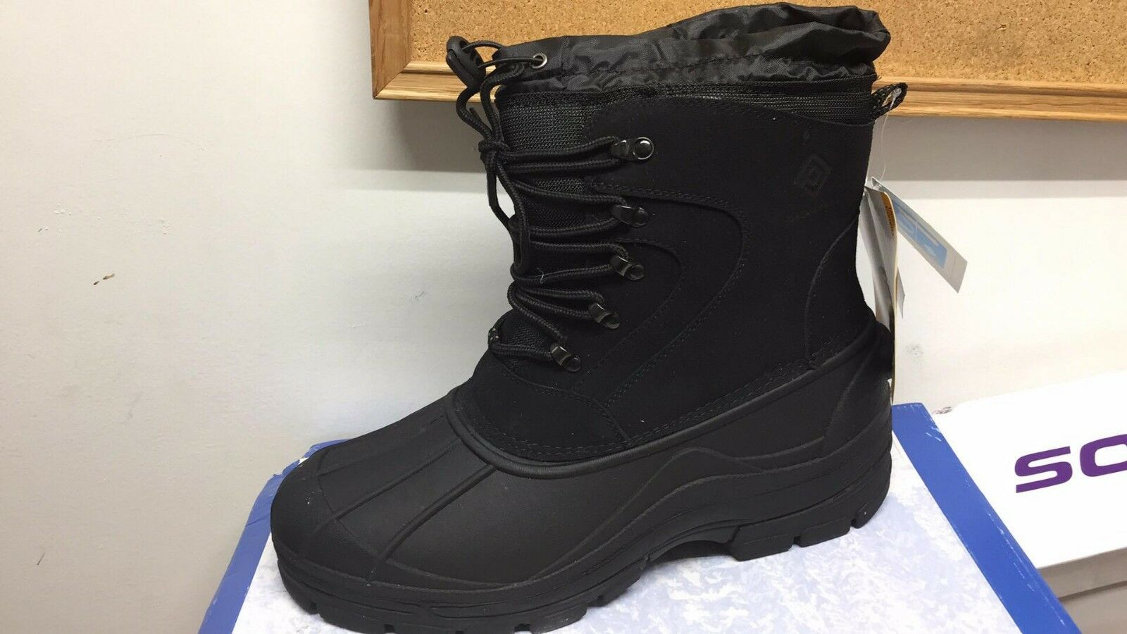 Men's Boots Winter Snow DREAM PAIRS  Force-1 Black insulated Waterproof 12 M US