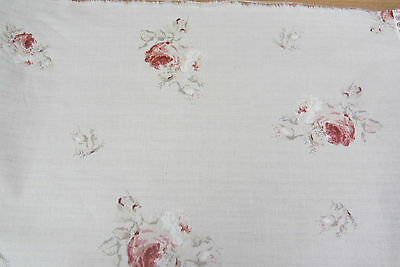 Antique Vintage Rose Floral Design Cotton  Curtain/Craft Fabric