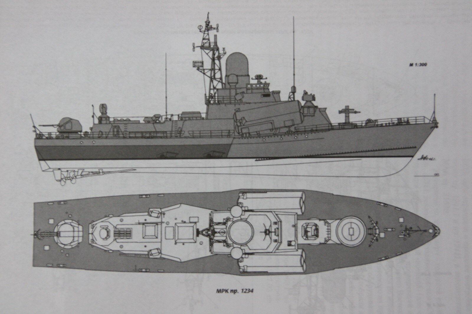 MCA Rumpf soviético raketenkorvette Nanuchka-clase proyecto 1234 en m1 60.