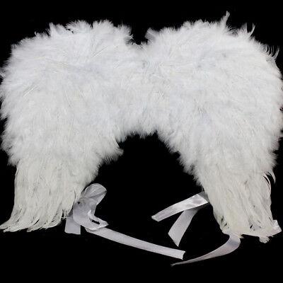 Bianco Angelo Fata Ali Costume Festa Costume Vestito Di Natale Accessorio 48cm-