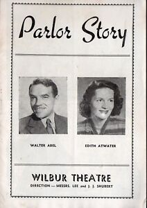 PARLOR-STORY-Vintage-1947-Wilbur-Theatre-Booklet-Boston-MA