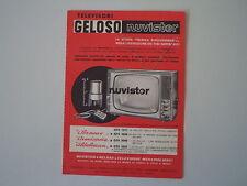 advertising Pubblicità 1963 GELOSO TELEVISORE NUVISTOR