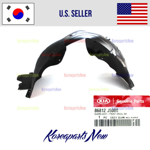 FRONT Fender Liner Right PASSENGER side 86812J5000 for KIA STINGER 2018-2020