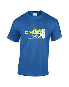 Tour De France Alp D'Huez Cycling Mens Printed T-Shirt