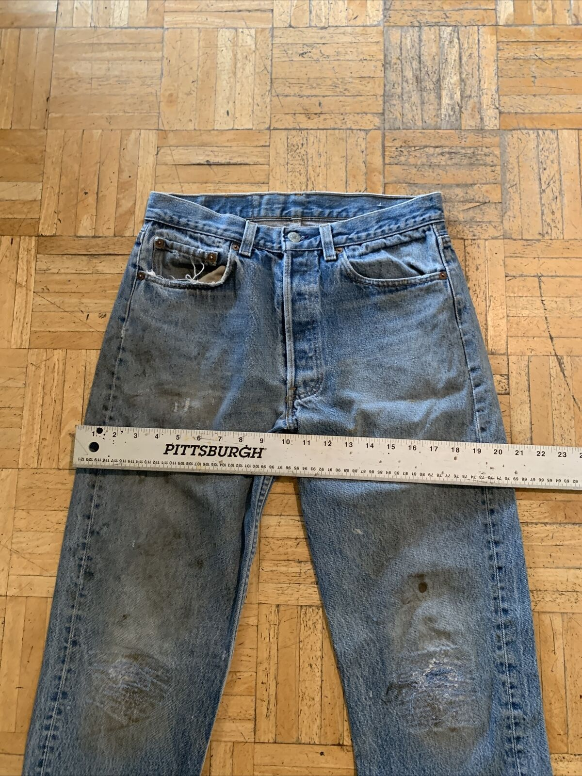 vtg levis 501 made in usa (9) - image 3