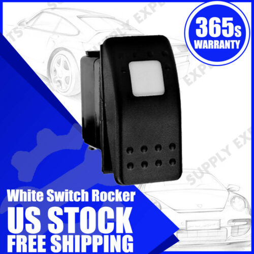 Details about  /White LED 3P Waterproof 12V 20A Bar Carling Push Rocker Toggle Switch Car New