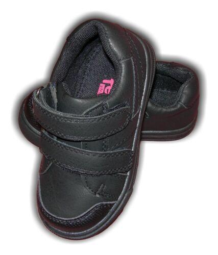 Boys Kids Active Trainers Black Vel SKATER Junior Kids Sizes 6-9 MRP £16