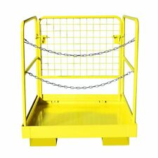 36x36 Forklift Work Platform Safety Cage Basket Heavy Duty 1100lbs Capacity