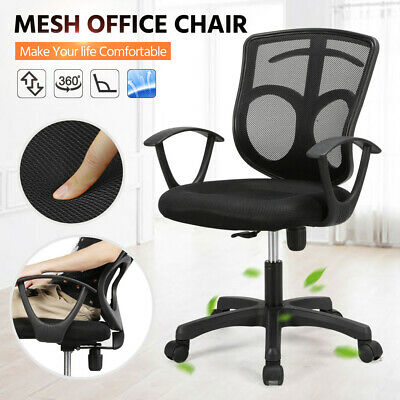 Office Chair Mesh Swivel Computer Desk Chair Adjustable Executive Seat Fabric UK