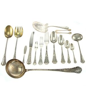Image is loading Christofle-83pcs-Silver-Plated-Flatware-Cutlery-Set-Paris-  sc 1 st  eBay & Christofle 83pcs Silver Plated Flatware Cutlery Set Paris France ...