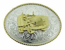 Big Rig Truck Belt Buckle Trucking Trucker Cowboy Gold Silver Texas Us Western
