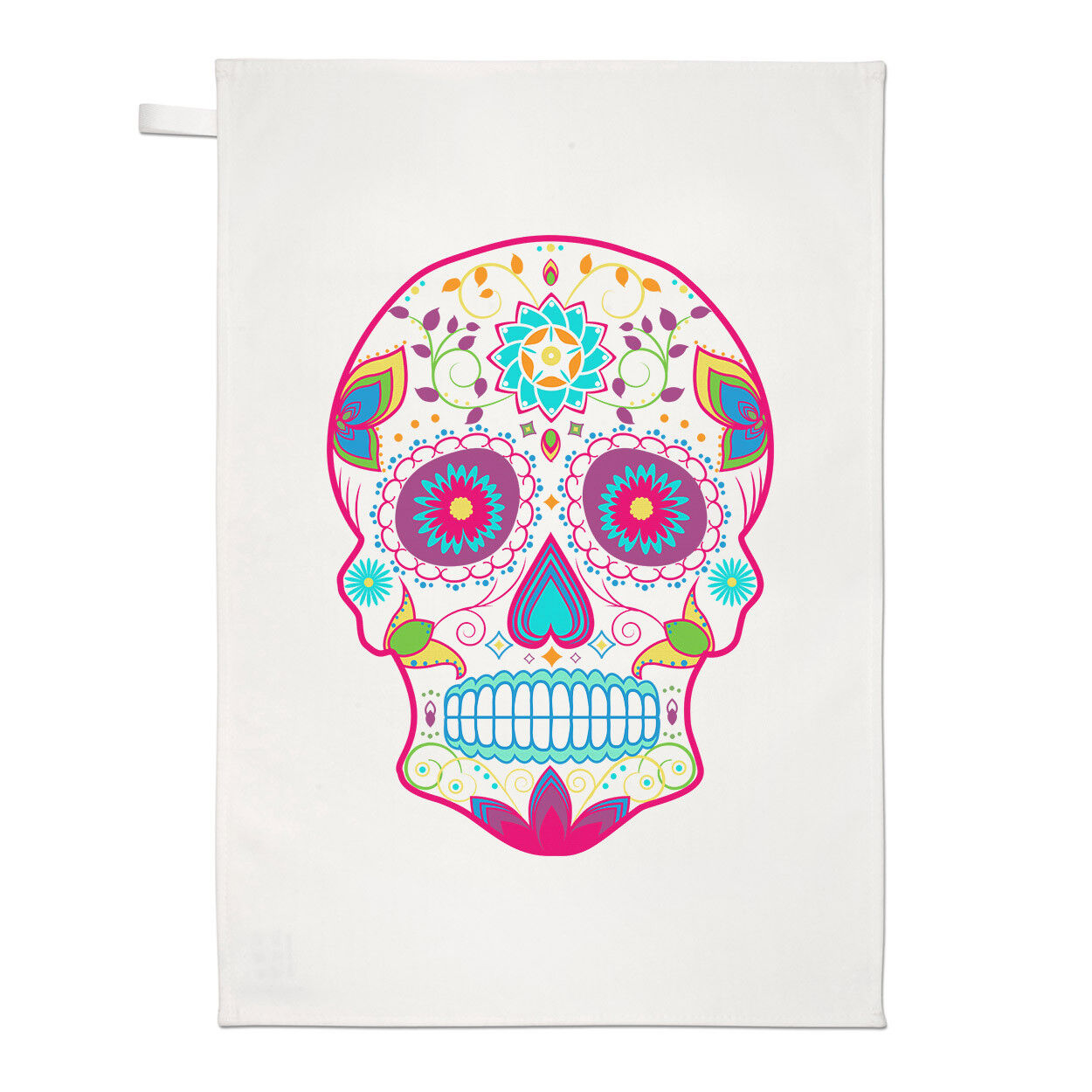 Colourful Sugar Skull Tea Towel Dish Cloth - Funny | eBay