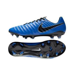 NEW-Nike-Legend-7-Pro-FG-Men-039-s-Soccer-Cleats-Racer-Blue-Black-Tiempo-AH7241-400